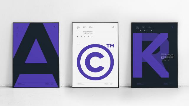 Stylish Typeface Design for AppD Sans