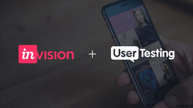 Introducing Invision + UserTesting