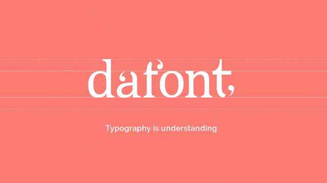Dafont Branding and UI Design Concept
