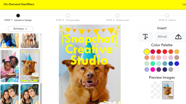 Weekly Roundup: Snapchat Custom Geofilters, Splashy and More