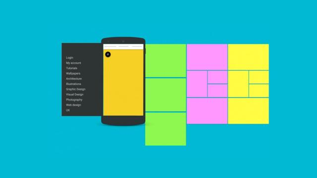 Abduzeedo Material Design - App Navigation