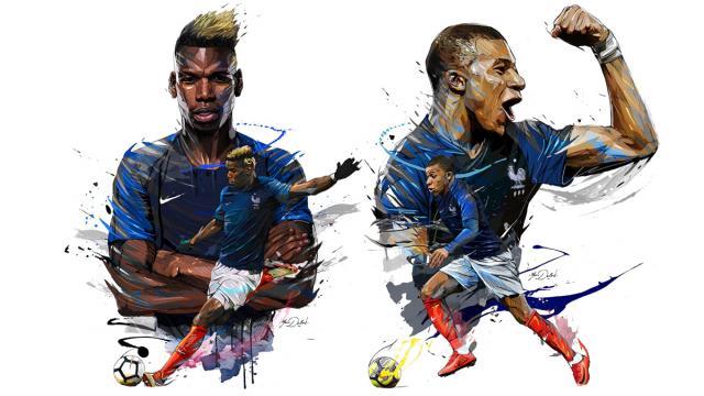 World Cup 2018 Illustrations: Félicitations les Bleus (France)