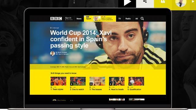 UI/UX BBC Homepage
