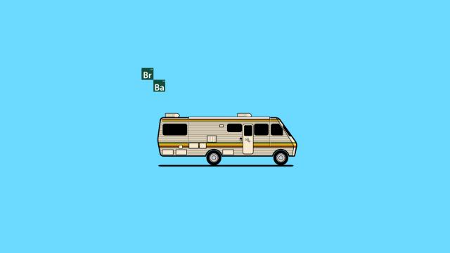 Vector Breaking Bad RV in Illustrator