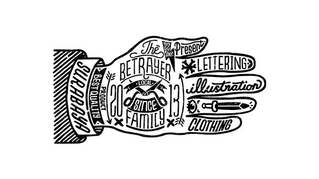 Rad Lettering Illustrations by Betrayer Family