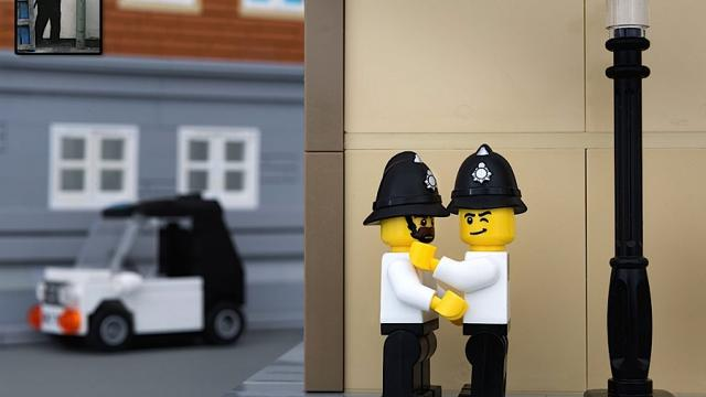 Bricksy: Lego version of Banksy Art