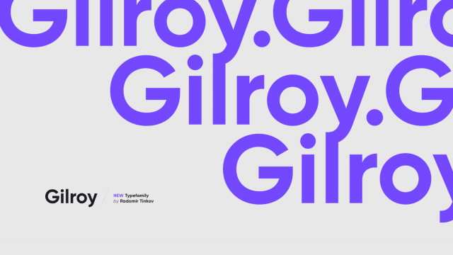 Gilroy Typeface Family