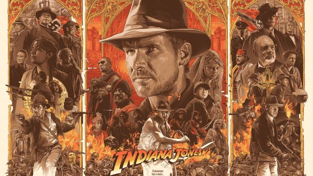 Illustration and Poster Design for Indiana Jones Trilogy