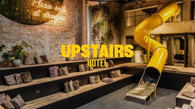 Hip and Sophisticated Brand Identity for Upstairs Hotel