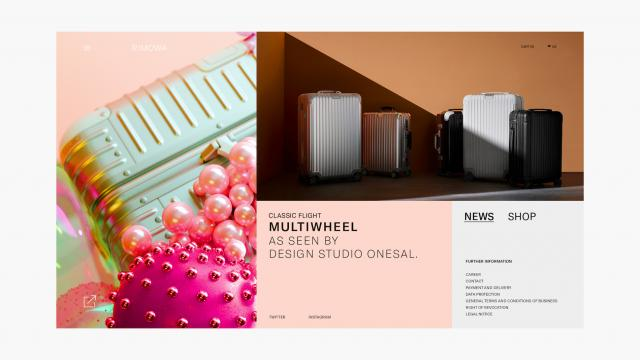 Elegant Web Design and App Design for Rimowa