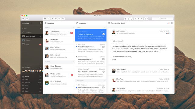 Interaction Design & UI/UX of Mailcube MacOS App
