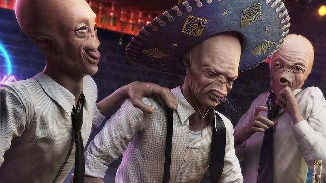 Drunk Aliens by Rafael Vallaperde - CGSociety TEN winner