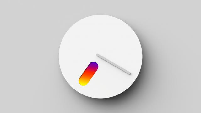 Industrial Design: Color of Time Minimalist Wall Clock