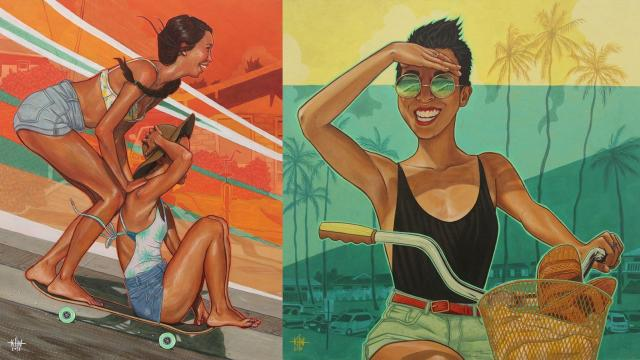 Endless Summer vibes with Kate Wadsworth's stylish illustrations