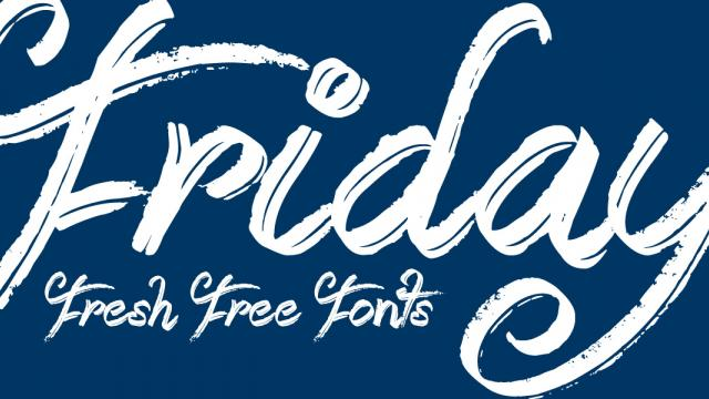 Friday Fresh Free Fonts - Quasith, High Tide, Booday