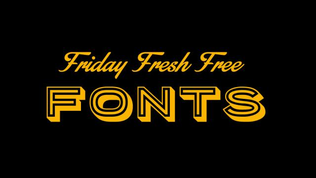 Friday Fresh Free Fonts - Porter Sans, Gaspar, Stainy