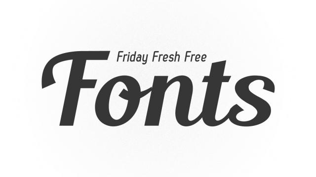 Friday Fresh Free Fonts - Zag, Blenda, Ostrich Heavy