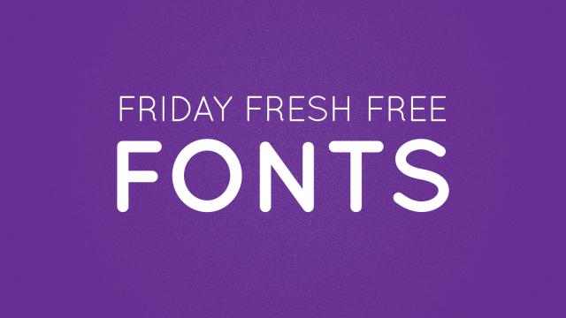 Friday Fresh Free Fonts - Sui Generis, Simplifica, Quicksand
