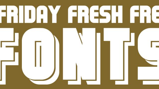 Friday Fresh Free Fonts - Municipal, Resamitz, Cortes