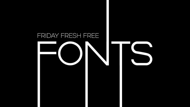 Friday Fresh Free Fonts - Duma, Rider, Dual
