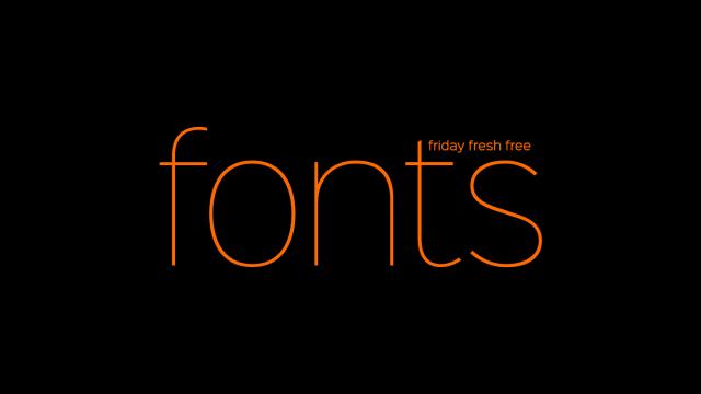 Friday Fresh Free Fonts - Sinkin Sans, Separator, Risen