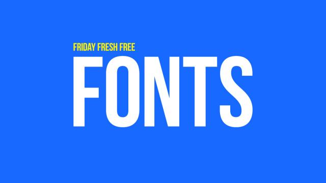 Friday Fresh Free Fonts - Baron Neue, Identica, Pharmount