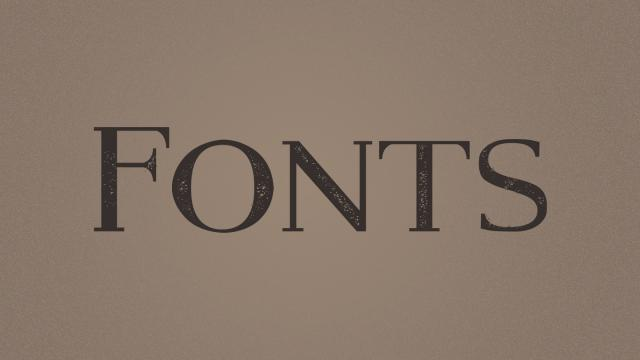 Friday Fresh Free Fonts - Streamster, Modern Serif Eroded, River Oak