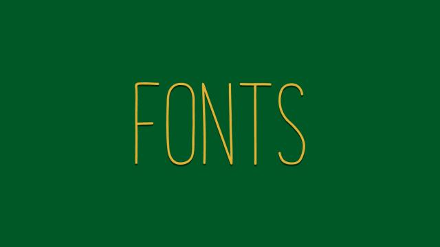 Friday Fresh Free Fonts - Kollektif, Melo, Mixolydian Titling
