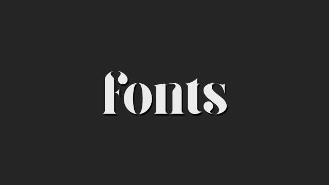 Friday Fresh Free Fonts - Giza, Boston, Sen