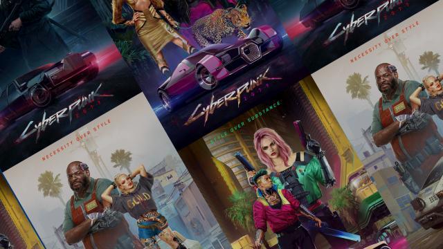 Cyberpunk 2077: #StyleOverSubstance Concept Art Posters