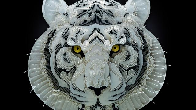 Papercut Art of Endangered Species by Patrick Cabral