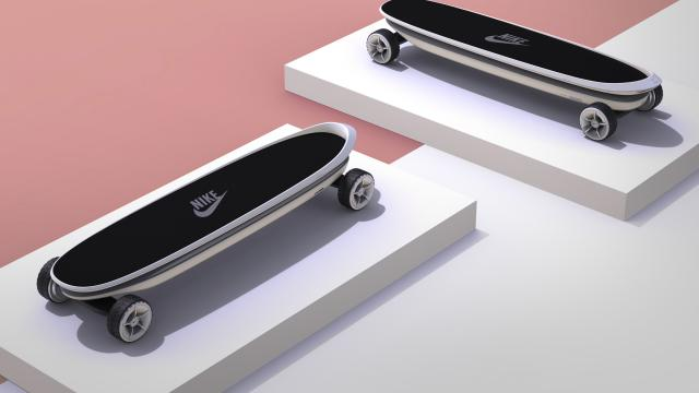 Industrial Design for Nike Electric Skateboard Concept