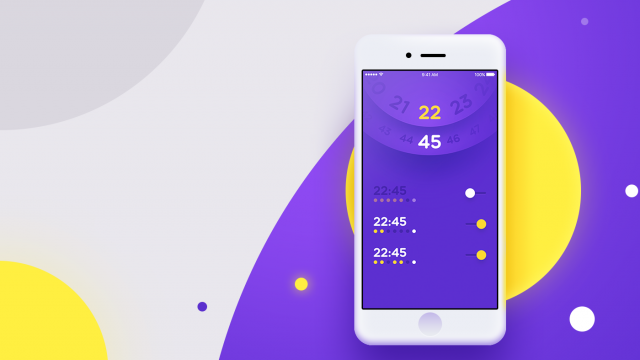 UI Inspiration: 09 Alarm Clock
