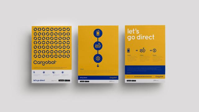 Brand Identity for Cargobot Inspired by Classical Modernism