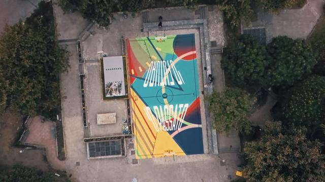 Illusory Basketball Court: O Passato / 'O Futuro - Street Art