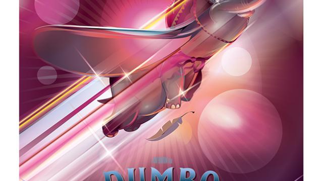 Amazing Vector Illustration for Disney Tim Burton's Dumbo