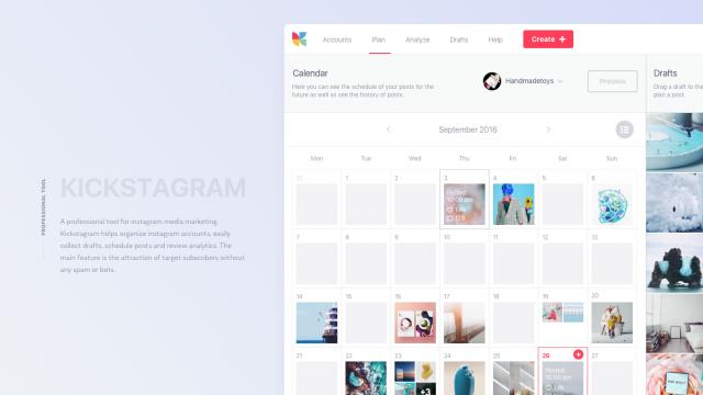 Interaction Design & UI/UX: Kickstagram, an Instagram Marketing Tool