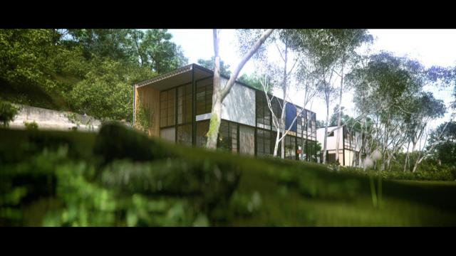 The Eames House - Case Study House No. 8 in 3D