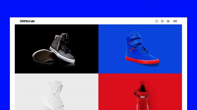 The Supra Footwear Website