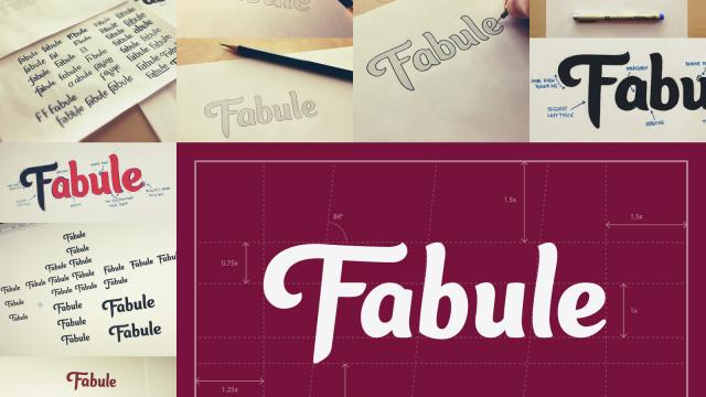 Case Study - Fabule Custom Type Logo