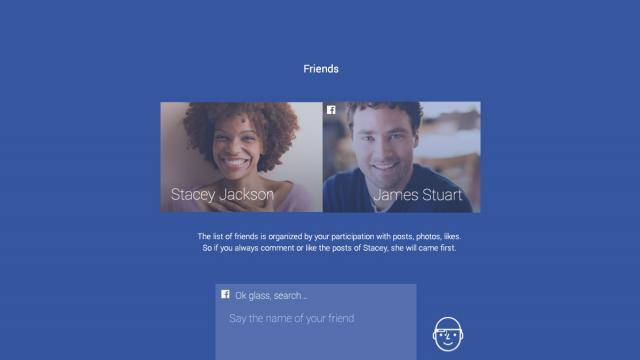 Facebook for Google Glass - Concept