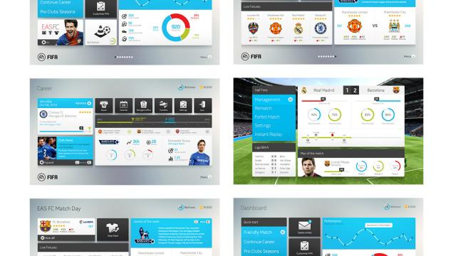 Design Concept: FIFA Game Interface