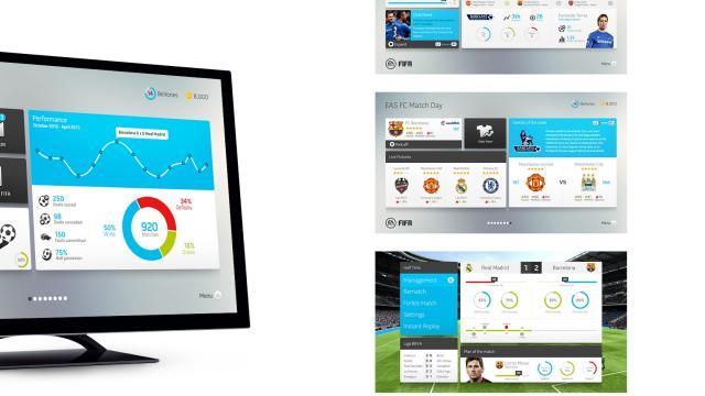 FIFA Interface Design by Rodrigo Bellao