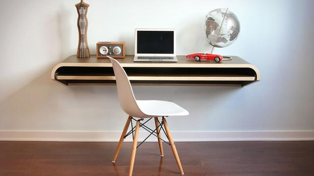 The Perfect Office - Minimal Float Wall Desk, Razer Star Wars Keyboard and more