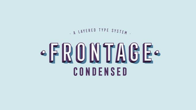 Frontage Condensed Typeface