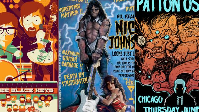 Wicked Illustrated Gig Posters