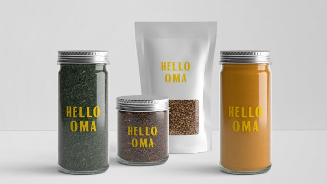Hello Oma Seasonal Farmers Market  Visual Identity
