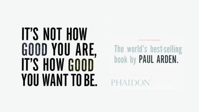 Not How Good You Are, Its How Good You Want to Be - Book Suggestion