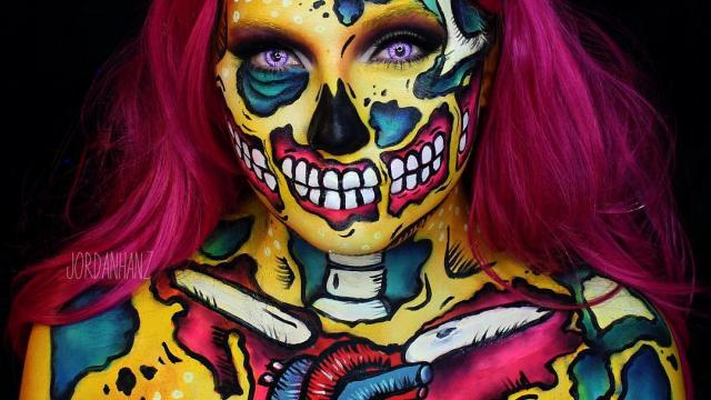 Amazing Face Paintings by Jordan Hanz