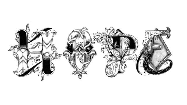 Hand Drawn Love Letter Alphabet
